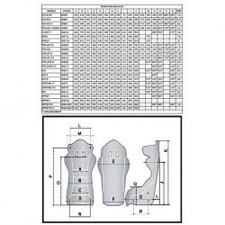 Tabla ajustes bases de asiento laterales Sparco