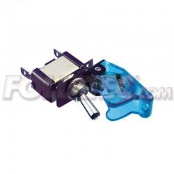 Interruptor con cubierta Foliatec tapa azul transparente