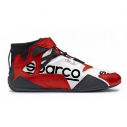 Botines Sparco Apex RB-7  rojo blanco negro