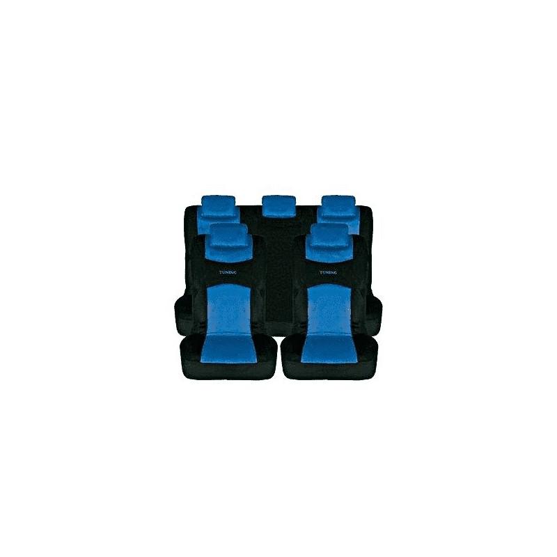 Juego Fundas Rejilla Azul