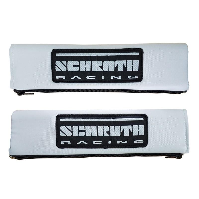 """Almohadillas Cinturón Schroth 3"""" Logo blancas"""