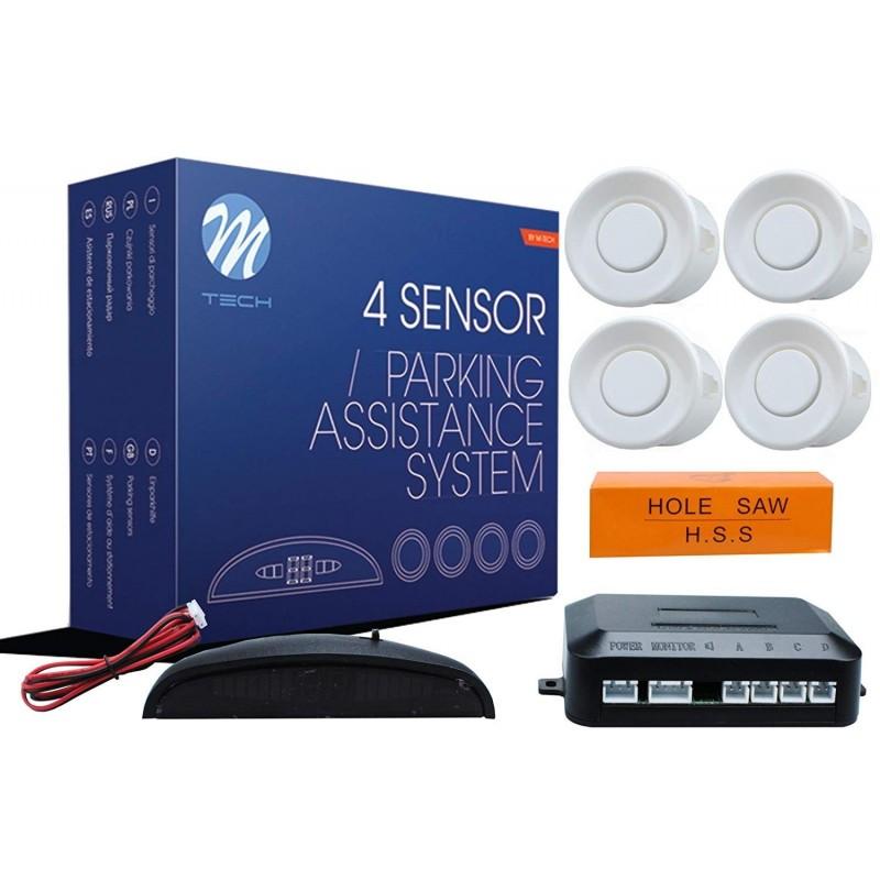 Asistencia Aparcamiento M-Tech Display 4 sensores 21.5 mm blanco