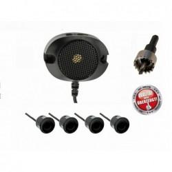 Sensores Aparcamiento M-Tech 4 sensores 21.5 mm Black Buzzer