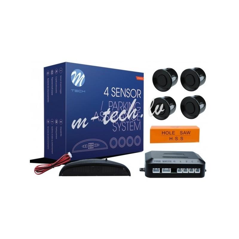 Sensores Aparcamiento M-Tech 4x18 mm sensor negro