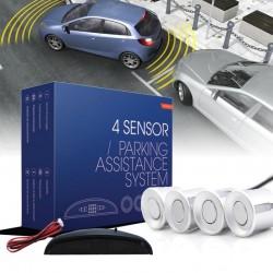 Asistencia Aparcamiento M-Tech Display 4 sensores 21.5 mm plata