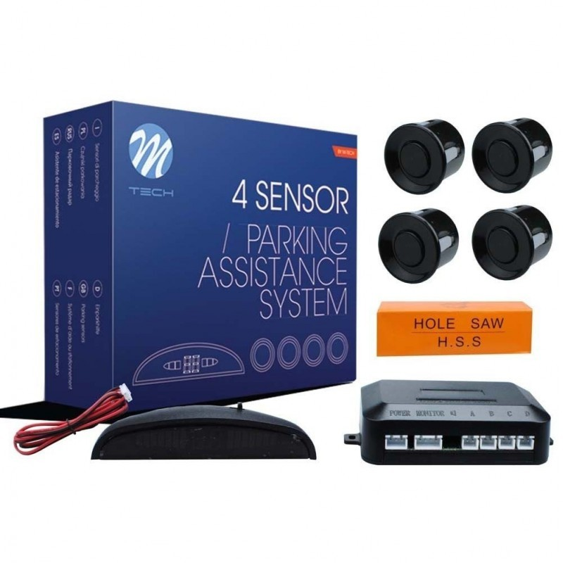 Asistencia Aparcamiento M-Tech Display  4 sensores 21.5 mm negro