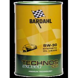 Aceite sintético Bardahl Tecnos Exceed C60 5W 30 1 l.