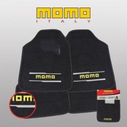 Alfombrillas Momo 005 Universales 4 Piezas Negro/Gris