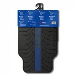 Alfombrillas Sparco Franja Azul PVC/Látex 4 Piezas.