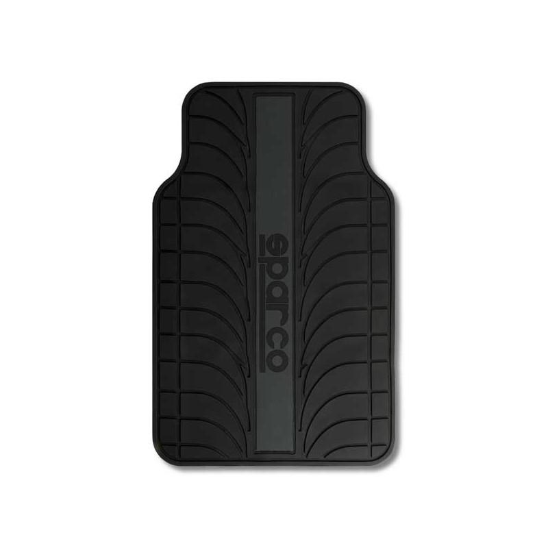 Alfombrillas Sparco Franja gris PVC/Látex 4 Piezas.