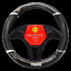 Funda Volante Momo SWC 015 Black-Carbon Black