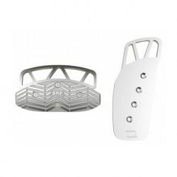 Pedales OMP Aluminio Anodizado Plata