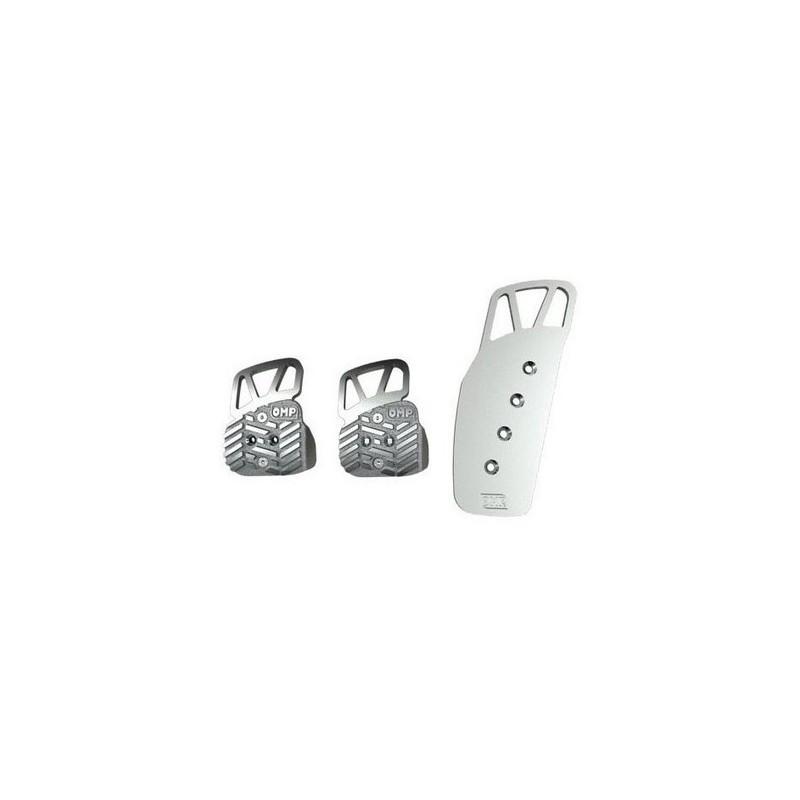 Pedales OMP Aluminio Anodizado OA/1068 plata