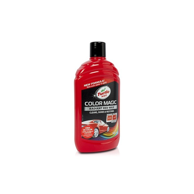 Cera Turtle Wax Color Magic Rojo 500 ml