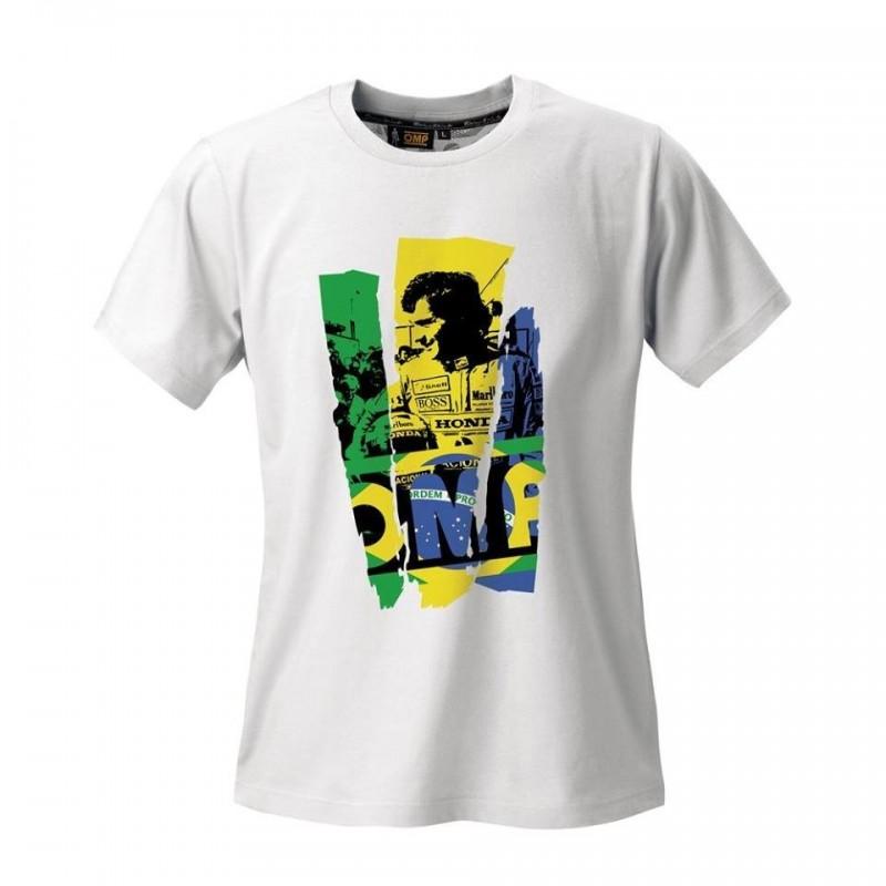 Camiseta OMP Airton Senna Blanca