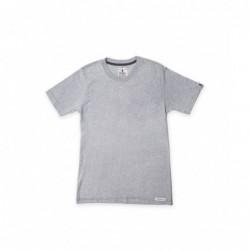 Camiseta Manga Corta Gris Cuello Redondo