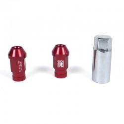 Tuerca Aluminio OMP Nuts Hex 19 L:40mm granate