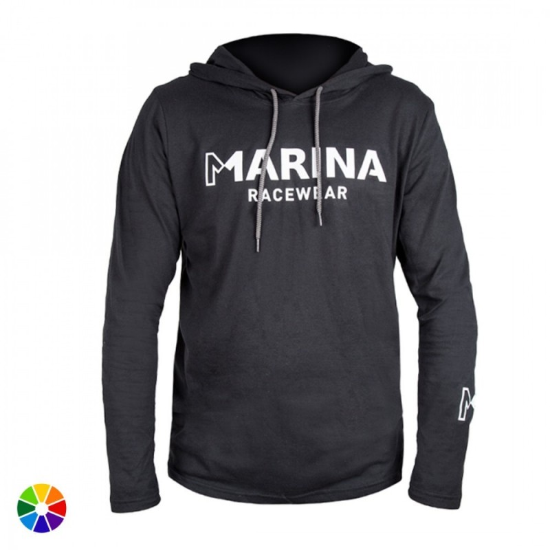 Camiseta Manga Larga Capucha Marina Racewear