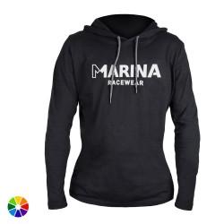 Camiseta Mujer Manga Larga Capucha Marina Racewear