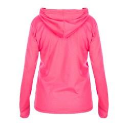 Camiseta Mujer Rosa Manga Larga y Capucha Marina Racewear