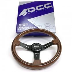 Volante Madera Brazo Negro OCC Classic