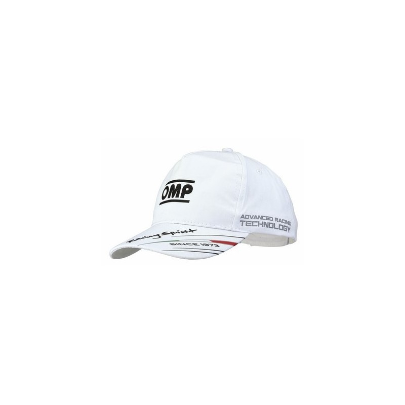 Gorra OMP Niños Racing Spirit blanca