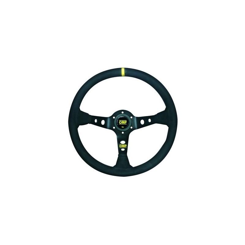 Volante OMP Corsica 330 Negro Ante Radios Anodizados
