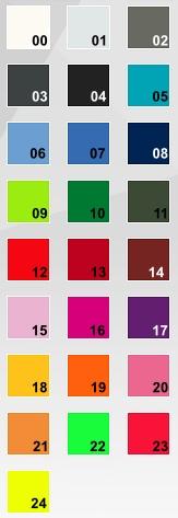 Guía de colores para personalizar guantes Marina RW Unic